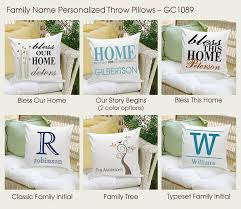 engraved pillows personalized family name throw pillows personalize at