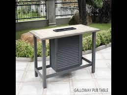 Pub Patio Furniture Backyard Creations Galloway 7 Piece Entertainment Patio Set At