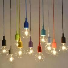 Light Bulb Pendant Vintage E27 Home Ceiling Pendant L Light Bulb Silicon Gel