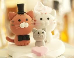 cat wedding cake topper cat wedding cake topper by kikuike handmade studios