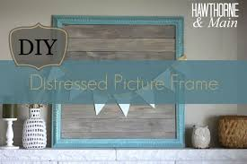 Picture Frames Made From Old Barn Wood Diy Distressed Picture Frame U2013 Hawthorne And Main