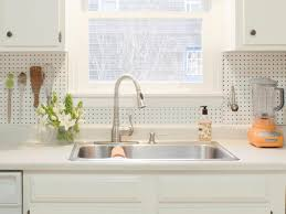 diy kitchen backsplash ideas kitchens pegboard backsplash for storage and display diy