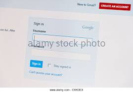 Gmail Login Mail Mail Login Stock Photos Mail Login Stock Images