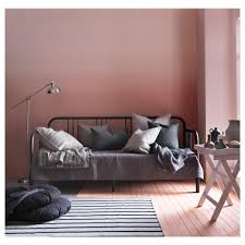 fyresdal day bed with 2 mattresses black moshult firm 80x200 cm ikea