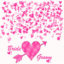 Wedding Invitation Card Free Download Bride And Groom Stylish Wedding Invitation Card In Pink Hearts
