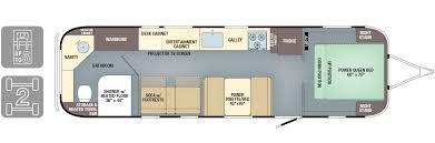 Open Range Travel Trailer Floor Plans by Floorplans Classic Airstream