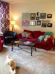 image result for what colors go with red couch paint colors