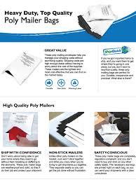 amazon com poly mailer bags 100 pack 10x13 shipquick envelope