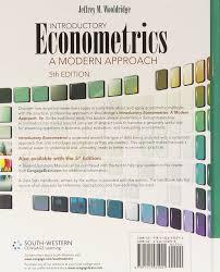 introductory econometrics a modern approach jeffrey wooldridge