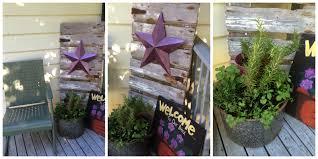 the purple front door front porch decor