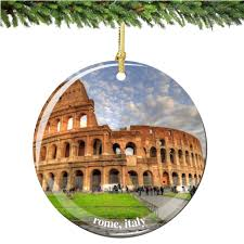amazon com rome coliseum italy christmas ornament porcelain 2 75