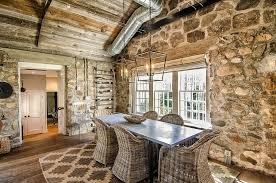 15 gorgeous dining rooms with stone walls cottage style walls rush2