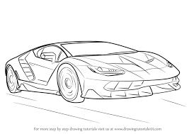 lamborghini car drawing learn how to draw lamborghini centenario sports cars by