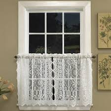 Jcpenney Lace Curtains Lace White Curtains Drapes For Window Jcpenney