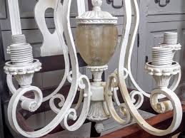 Painted Chandelier Painted Chandelier Makeover Using General Finishes Milk Paint At