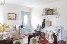 Blue And White Living Room Decorating Ideas 35 Fall Living Room Decorating Ideas