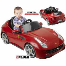 red ferrari kalėdinė loterija laimėkite elektromobilį feber licensed