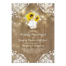 sunflower wedding invitations sunflower wedding invitation rustic wedding invitations