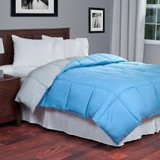 Colored Down Alternative Comforter Linenspa Reversible Stone Charcoal Down Alternative King Quilted
