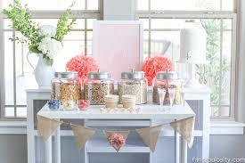 brunch bridal shower ideas pretty in pink cereal bar fantabulosity
