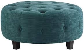 large round tufted ottoman coffee table farrow round tufted