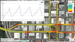 Map Downtown Portland by Db4iot Routeanalyst Creating Speed U0026 Delay Maps From Cad Avl Data