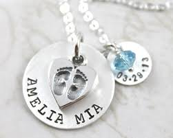 footprint necklace personalized inspirational footprint necklace custom name custom sted