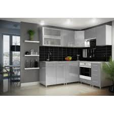 cuisine gris laque dusine cuisine gris clair laquée infinity 9 éléments angle pas