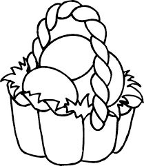 easter basket with eggs coloring page drawing easter basket fill with eggs coloring page batch coloring