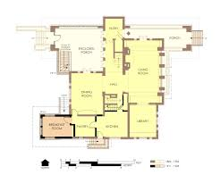 Frank Lloyd Wright Floor Plan File Hills Decaro House First Floor Plan Pre Fire Jpg Wikimedia