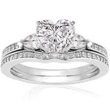 Heart Shaped Wedding Rings by Design Wedding Rings Engagement Rings Gallery Three Stone Diamond