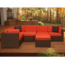Sectional Patio Furniture Canada - atlantic contemporary lifestyle bellagio brown 6 piece all weather