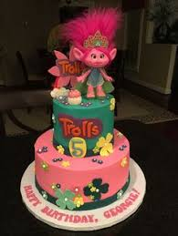 trolls cake cake decorating pinterest cake troll party and