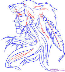 how to draw a native american warrior step by step tattoos pop