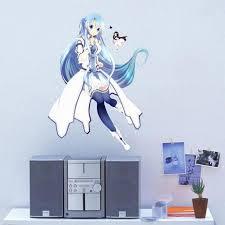 japanese anime game wall sticker sword art online sao asuna kawaii
