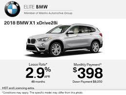 bmw payment get the 2018 bmw x1 xdrive28i today elite bmw ottawa promotion