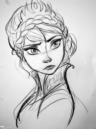 Anna Frozen Practise Drawing