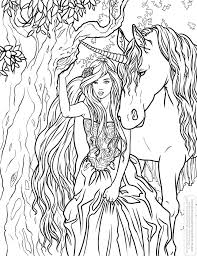 coloring pages of unicorns and fairies unicorn fairy adult coloring pages printable adult coloring pages