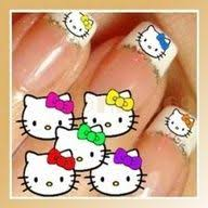 gel nails gelnails and acrylic pinterest hello kitty nails