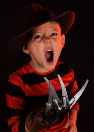 Kids Freddy Krueger Halloween Costume Kids Size Red Black Striped Freddy Shirt