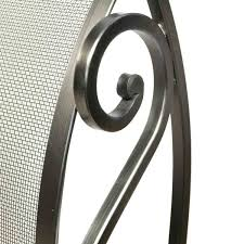 hinged panel screen pewter wrought iron northline express
