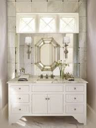 bathroom cabinets frameless beveled mirror silver bathroom