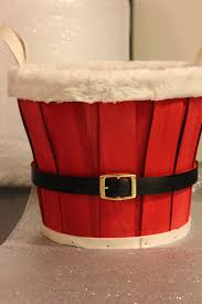 sale santa basket christmas gift holder red photo prop treat