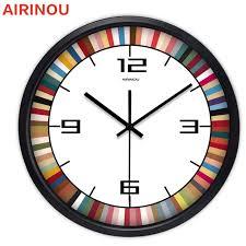 Home Decor Clocks Airinou 12 14 Inch Large Rainbow Decorative Wall Clocks Home Decor