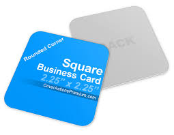 Business Cards Rounded Corners Square Business Card Mockup Cover Actions Premium Mockup Psd