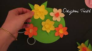 how to make paper flowers daffodils youtube