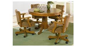 kitchen table and chairs with casters alluring leather dining chairs with casters with dining table with