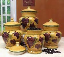 ceramic kitchen canisters sets ceramic kitchen canister sets ebay