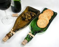 melted wine bottle platter melted wine bottle cheese tray spoon rest wine bottle tray