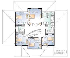 plan de maison 6 chambres plan de maison unifamiliale trigonella 2 w4833 dessins drummond